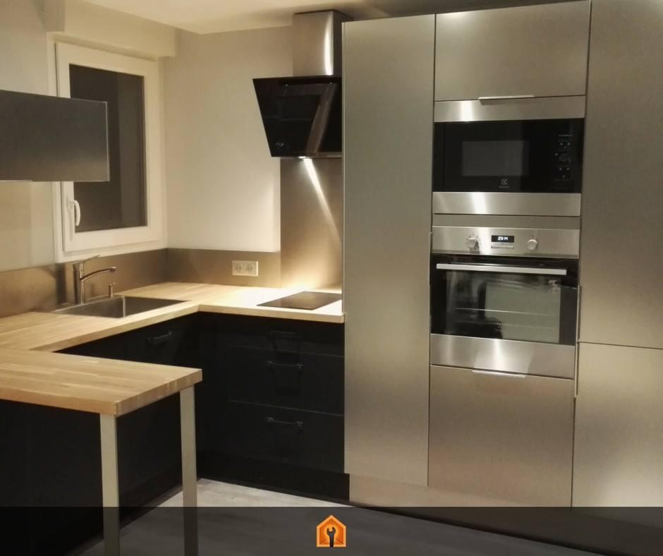 Installation cuisine Noir inox Villejuif – TOOCHEVOO   Pose de ...